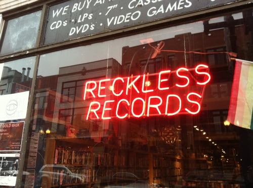 Reckless Records Sign